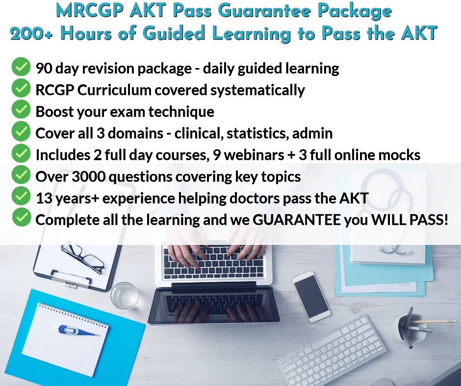 MRCGP AKT Pass Guarantee Package