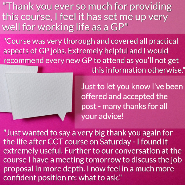 Life after CCT course feedback