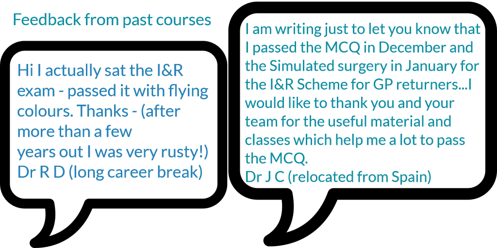 induction and refresher course feedback
